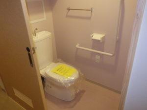 室内洋風トイレ設置完了