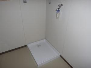洗濯パン・洗濯水栓設置完了