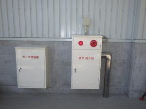 屋外消火栓ボックス設置完了