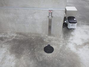 散水栓設置完了