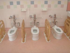 児童用トイレ設置完了