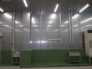 工場内 給水・給湯配管施工完了